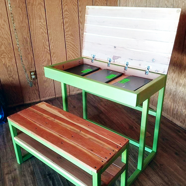 The Design Confidential Builders Showcase Completed Circle New School Desk