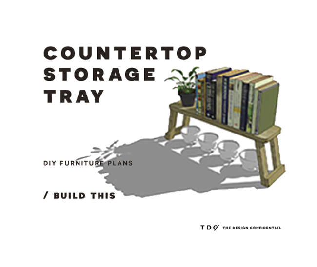 You Can Build This! Easy DIY Furniture Plans from The Design Confidential with Complete Instructions on How to Build a Countertop Storage Tray via @thedesconf