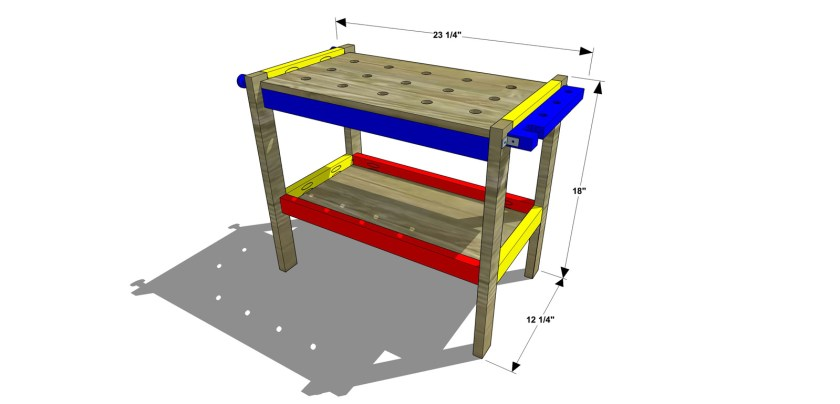 Dimensions for The Design Confidential Free DIY Furniture Plans // How to Build a Children's Play Workbench