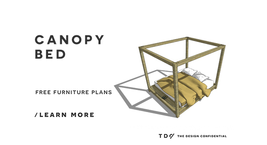 Free diy furniture plans how to build a king sized for Build your own canopy bed