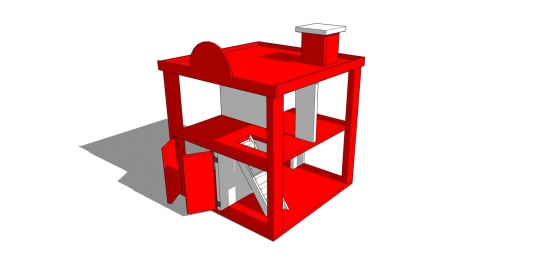 You Can Build This! Easy DIY Furniture Plans from The Design Confidential with Complete Instructions on How to Build a Fire Station Play Set via @thedesconf