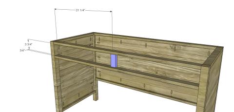 Desk Divider for Free DIY Furniture Plans // How to Build a Hughes Desk