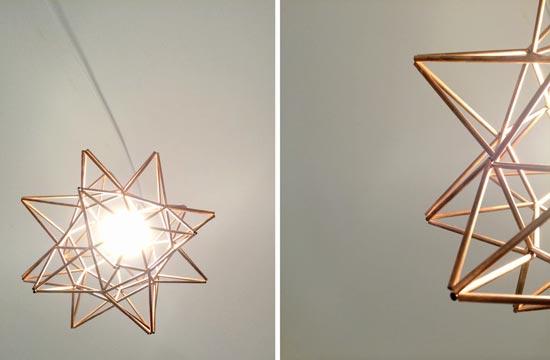 Diy Copper Moravian Star Pendant Light Fixture The Design