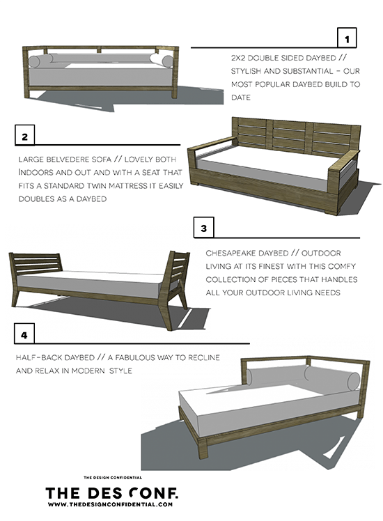 Four DIY Outdoor Daybeds to Liven Up Your Outdoor Living Space