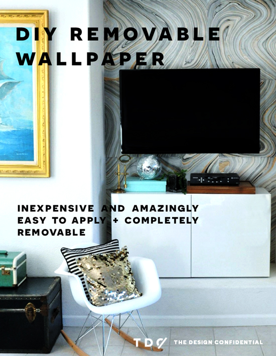 DIY Home Decor // How To Make Your Own Removable Wallpaper