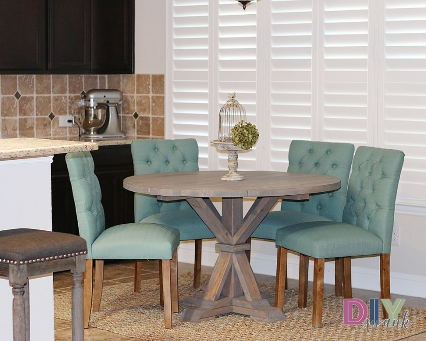 The Design Confidential Reader Showcase / DIY Swank Round Farmhouse Table