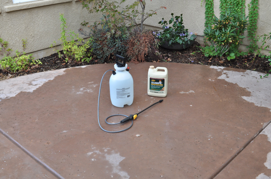 Spray the Deck Cleaner for The Design Confidential Patio Rescue and Resurface Prep Work