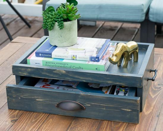 Free DIY Plans to Build a Coffee Table Serving Tray With ...