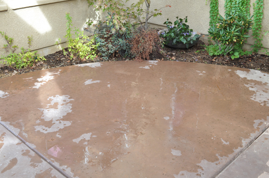 Let the Cleaner Sit for The Design Confidential Patio Rescue and Resurface Prep Work