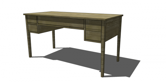 Good Free DIY Furniture Plans to Build a Ballard Designs Inspired Bouclier Desk