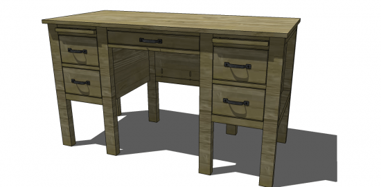 The Design Confidential Free DIY Furniture Plans to Build a RH Baby & Child Inspired Finn Desk