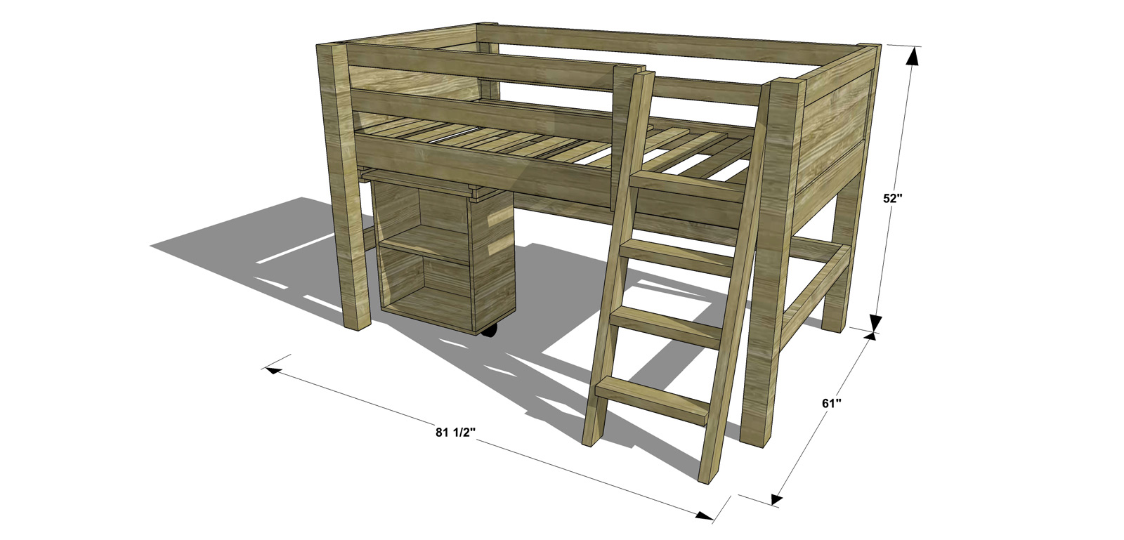 Stunning Dimensions for The Design Confidential Free DIY Furniture Plans How to Build a Twin