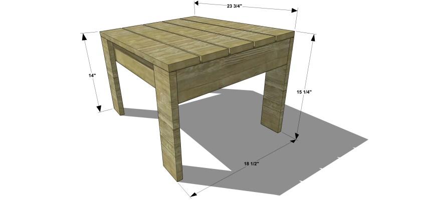 Modern Furniture Plans free diy furniture plans // how to build a modern adirondack