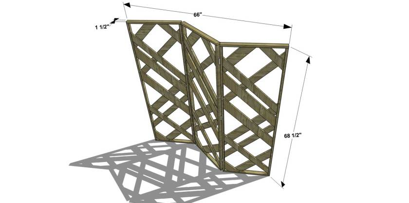 Dimensions for The Design Confidential Free DIY Furniture Plans // How to Build a Fretwork Folding Screen
