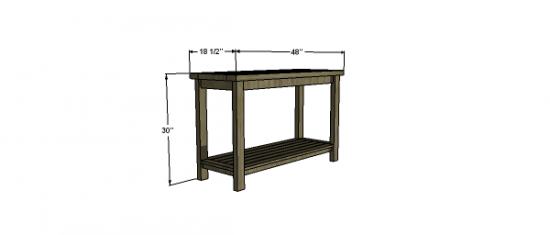 free woodworking plans to build a potterybarn inspired chesapeake console table the design. Black Bedroom Furniture Sets. Home Design Ideas