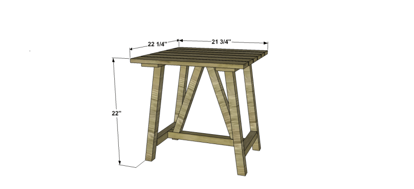 Dimensions for Free Outdoor Furniture Plans: How to Build a Crosby Indoor Outdoor End Table