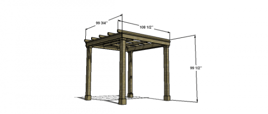 Free Woodworking Plans to Build a Modern Classic Pergola ...