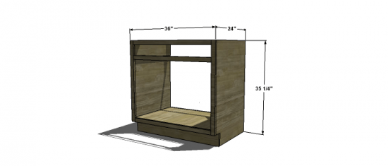 Kitchen Cabinet Sink Base Woodworking Plans Manual Guide