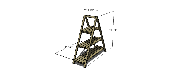 Free woodworking plans to build an a frame plant stand the design confidential - Ladder plant stand plans free ...