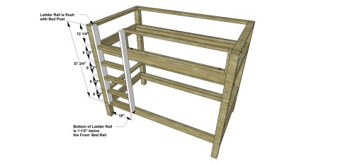 Ladder for The Design Confidential Free DIY Furniture Plans // How to Build a Duet Bunk Bed