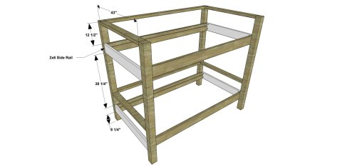 Side Rails for The Design Confidential Free DIY Furniture Plans // How to Build a Duet Bunk Bed