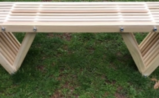 The Design Confidential Builders Showcase Joe Serb's Equilateral Bench