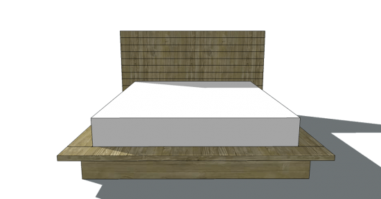 Simple Free DIY Furniture Plans to Build a Viva Terra Inspired Vintage Fir Platform Bed in Full