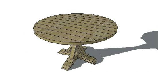Elegant Free Furniture Plans to Build a Round Provence Beam Table