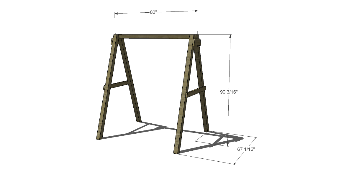Free Diy Furniture Plans How To Build, How To Build A Patio Swing Frame