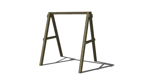 Free Diy Furniture Plans How To Build A Swing A Frame The Design