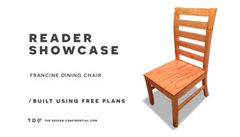 Free Diy Furniture Plans To Build A Francine Dining Chair The Design Confidential
