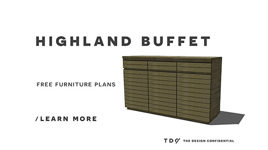 You Can Build This! Easy DIY Furniture Plans from The Design Confidential with Complete Instructions on How to Build a Highland Buffet via @thedesconf