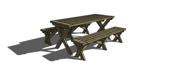 You Can Build This! Easy DIY Furniture Plans from The Design Confidential with Complete Instructions on How to Build a Chesapeake Picnic Bench via @thedesconf