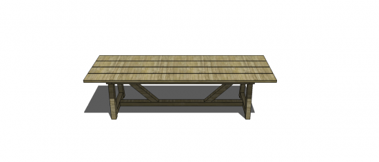 Lovely Free DIY Furniture Plans to Build a Restoration Hardware Inspired Provence Beam Dining with x us
