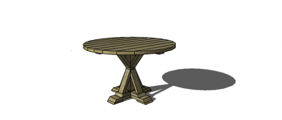 You Can Build This! The Design Confidential Free DIY Furniture Plans to Build a Round Provence Dining Table