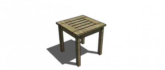Free Woodworking Plans To Build A PotteryBarn Inspired Chesapeake Snack  Table