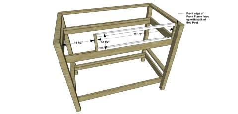 Upper Guard Rail for The Design Confidential Free DIY Furniture Plans // How to Build a Duet Bunk Bed