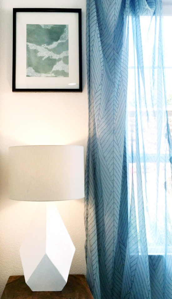 The Design Confidential DIY Over-Sized Geometric Lamp Project Using Mat Board