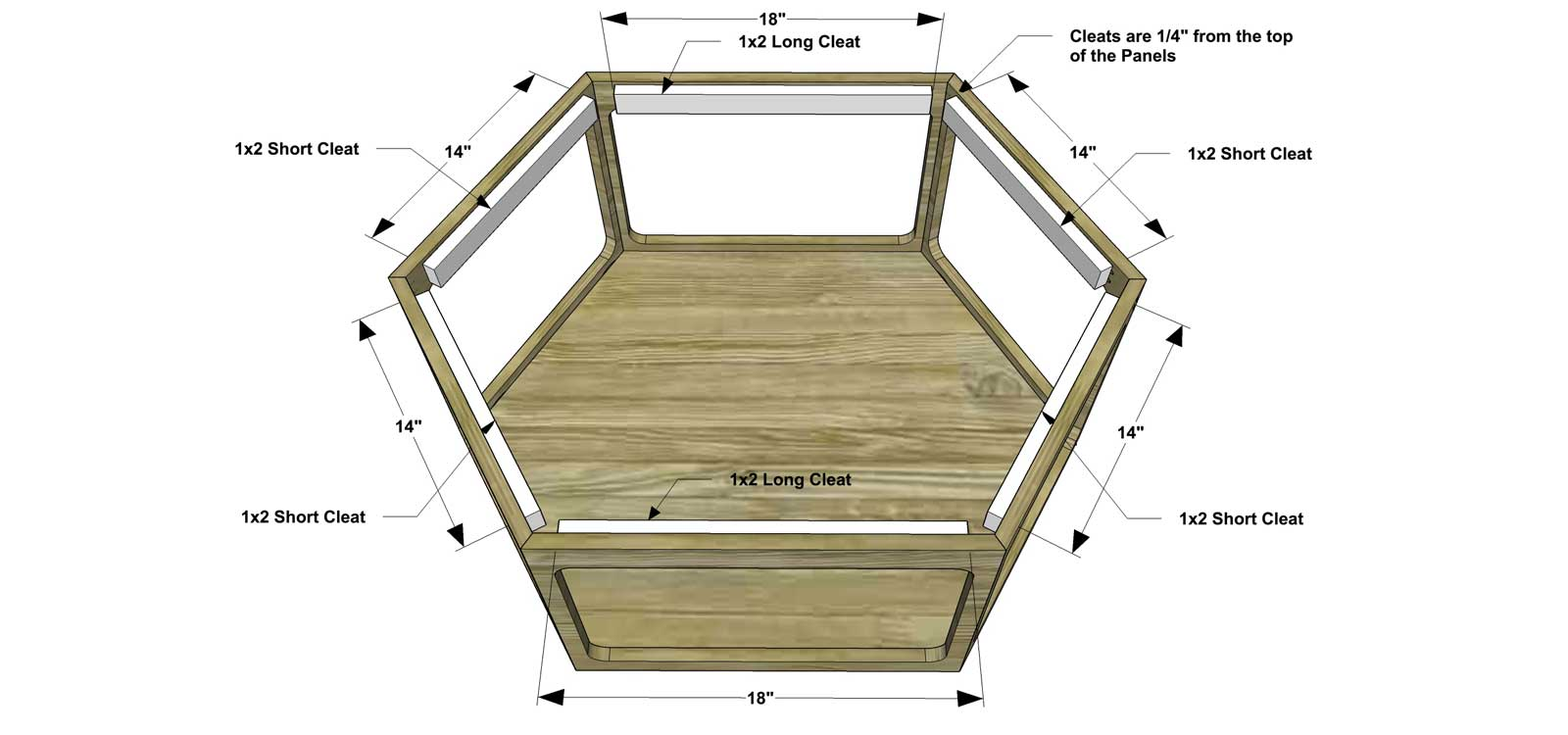 Free DIY Furniture Plans How To Build A Hex Wood Glass Coffee - Hexagon wood coffee table