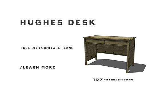 Free DIY Furniture Plans // How to Build a Hughes Desk