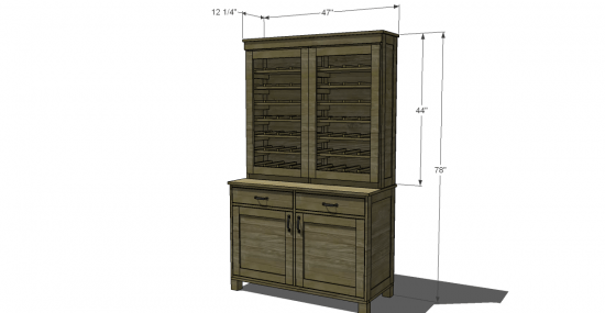 kitchen hutch plans trolley cart free diy furniture to build a pb inspired clara the dimensions for this project
