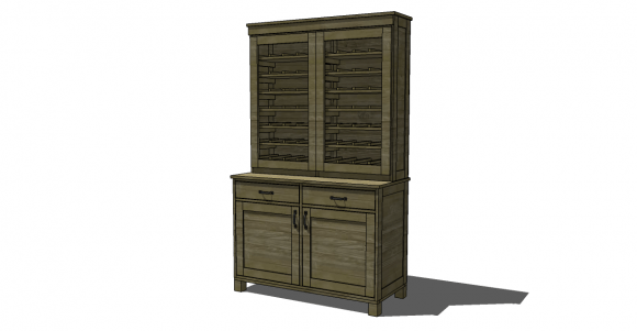 Free Diy Furniture Plans To Build A Pb Inspired Clara Hutch The