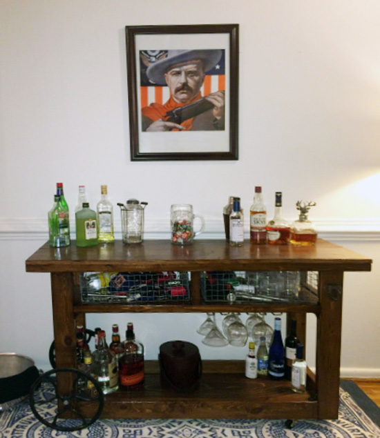 The Design Confidential Builders Showcase PB Inspired Glasgow Bar Cart