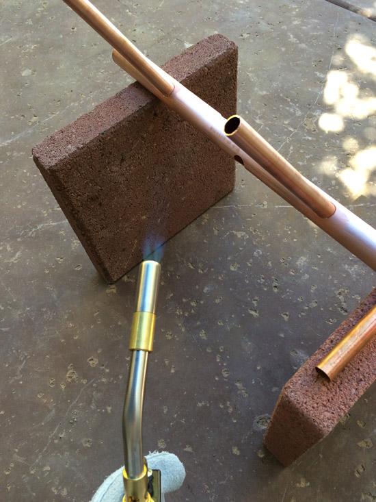 The Design Confidential DIY // Copper Hanging Small Space Coat Rack