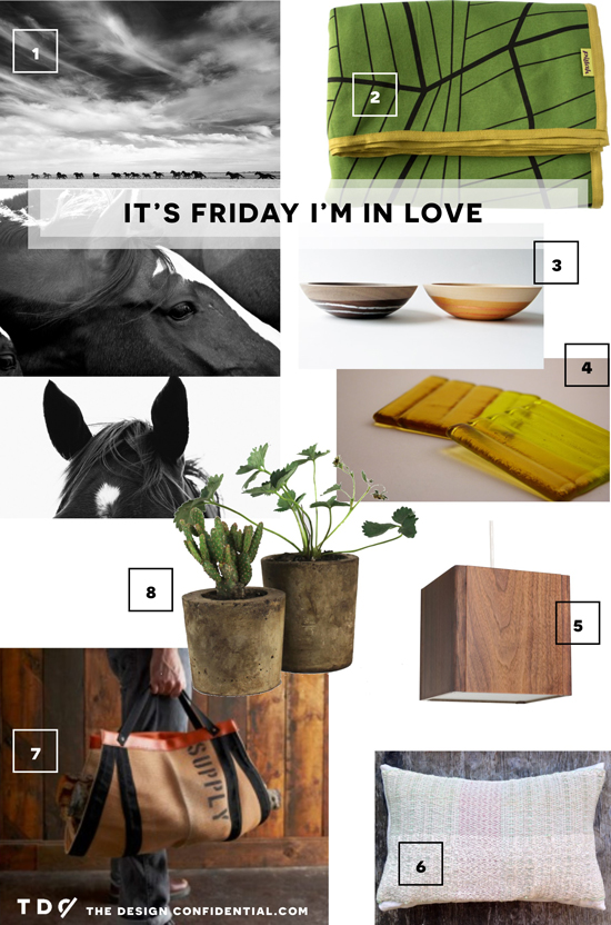 Gathered Home Decor Goods Accessories Photography Horses Blanket Lighting Pillow from Great.ly Makers in Green and Yellow Fall Tones for The Design Confidential Feature It's Friday I'm In Love // Green with Envy
