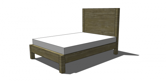 Unique Free DIY Furniture Plans to Build a West Elm Inspired Emmerson King Bed