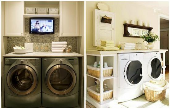 luxury laundry room big think its fairly obvious that tv in the laundry room would definitely make it more motivating ample counter space and storage seem to be consistent la luxury laundry rooms the design confidential