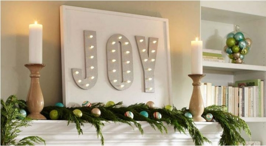 The Design Confidential for Home Depot's DIHWorkshop and Joyful Holiday Lighted Marquee Sign