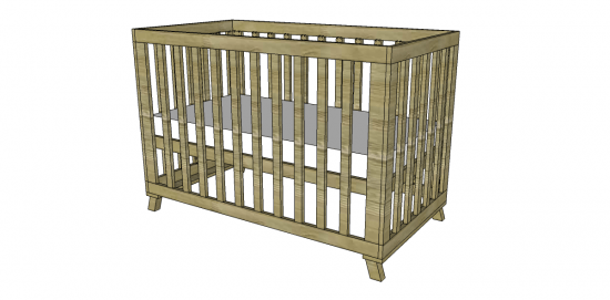 The Design Confidential Free DIY Furniture Plans to Build a Land of Nod Inspired Low Rise Crib