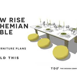 You Can Build This! Easy DIY Furniture Plans from The Design Confidential with Complete Instructions on How to Build a Low Rise Bohemian Table via @thedesconf